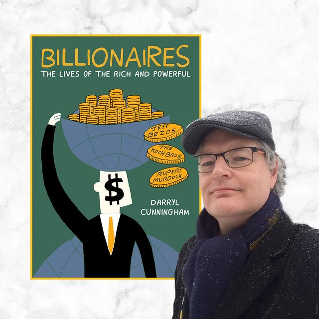 darryl cunningham's 'billionaires' takes a hard look at some of the world's richest men