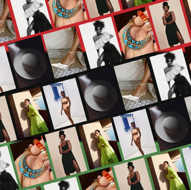 collage of fashion designers