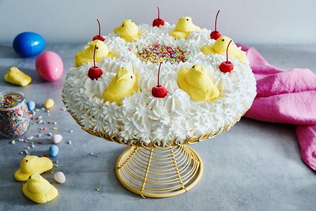 easter sundae ice cream cake