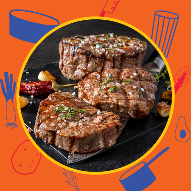 fresh grilled steaks with finishing salt and rosemary