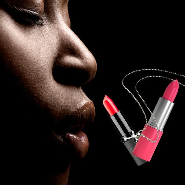 woman with lipstics