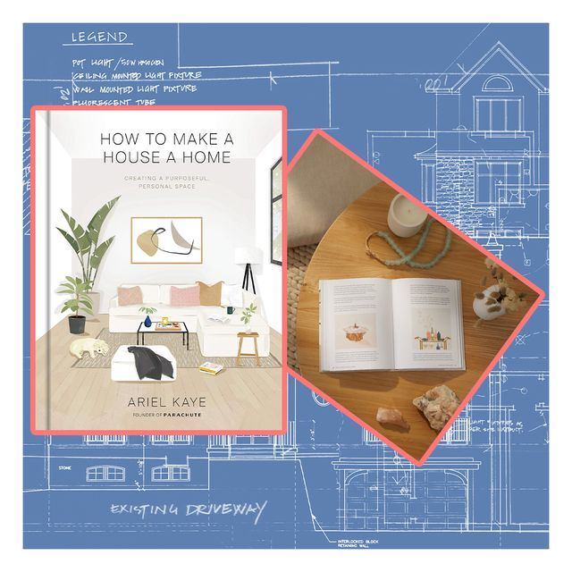 how to make a house a home book cover on top of architectural plans
