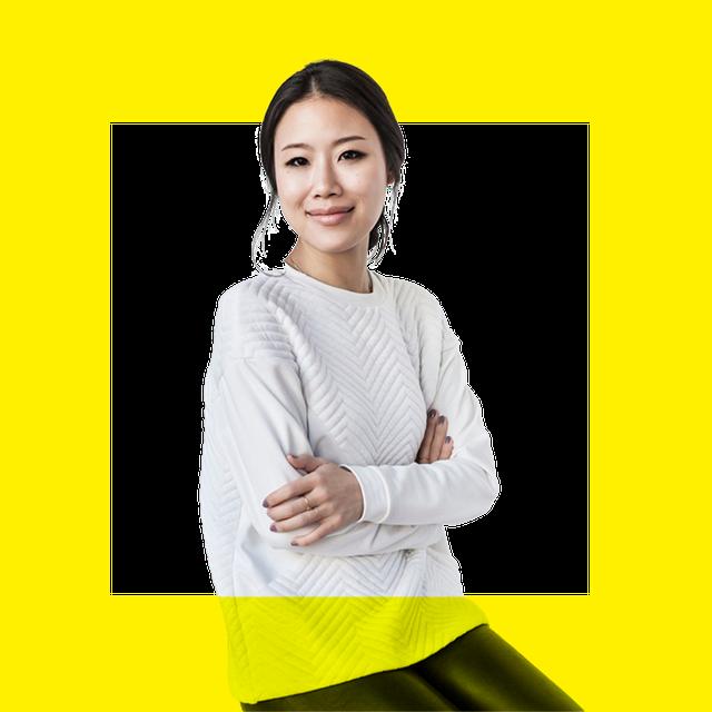 alicia yoon over yellow background