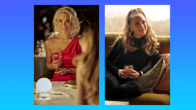 hannah waddingham left and juno temple right in season one of ted lasso