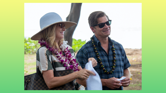 connie britton and steve zahn in hbo's the white lotus