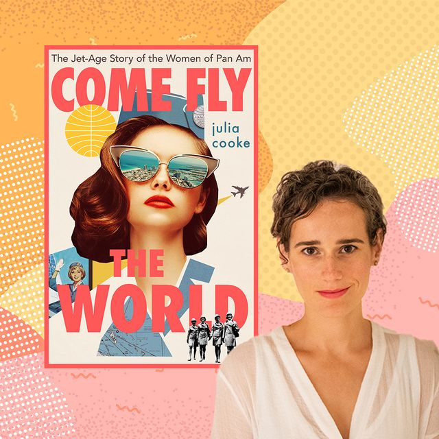 book come fly with me next to photo of julia cooke