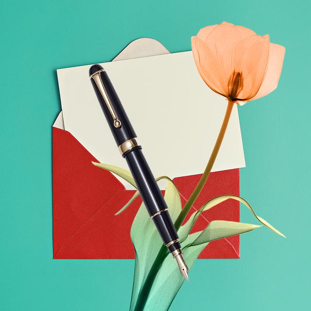 envelope pen flower