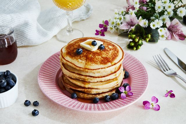 rosewater ricotta pancakes
