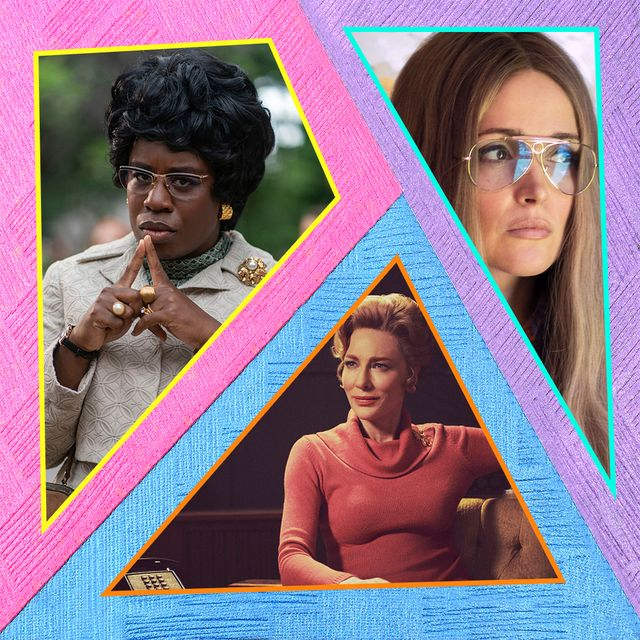 """uzo aduba, rose byrn, and cate blanchett as shirley chisholm, gloria steinem, and phyllis schlafly in """"mrs america"""""""