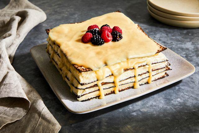 lemon matzo layer cake