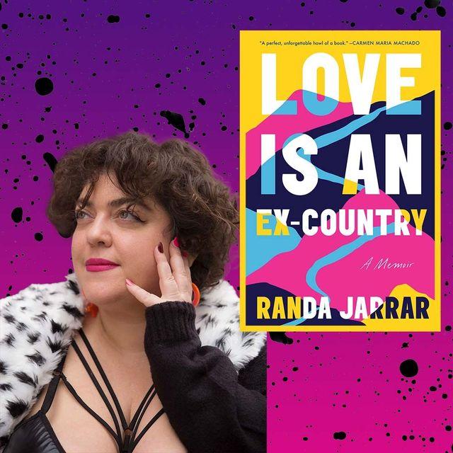 """randa jarrar, author of """"love is an ex country"""""""
