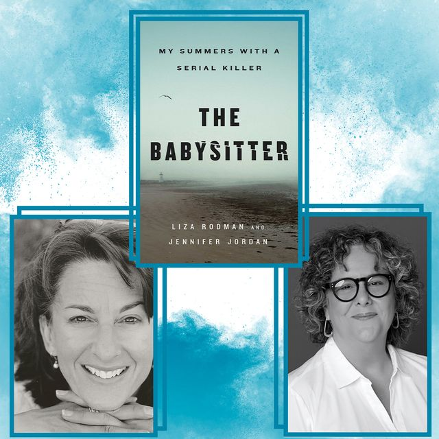 lisa rodman and jennifer jordan are posed next to the cover of the latest book, 'the babysitter'