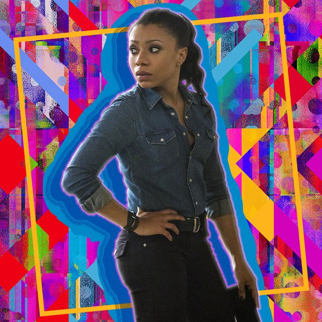 actress shalita grant behind a vibrant background