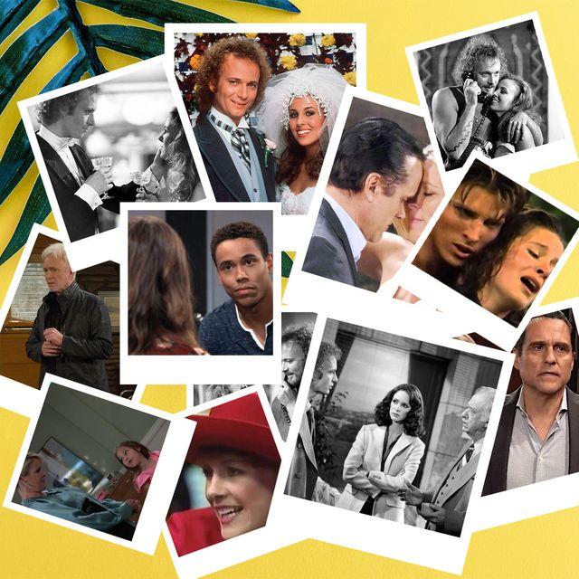 collage of soap opera stars