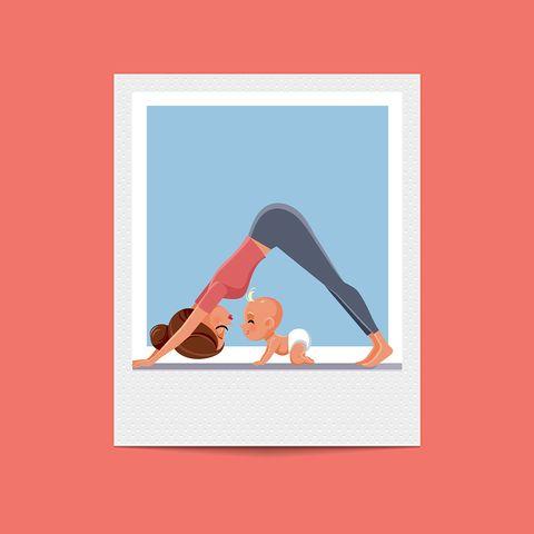 Physical fitness, Yoga, Pilates, Orange, Illustration, Stretching, Flip (acrobatic), Leg, Knee, Triangle,