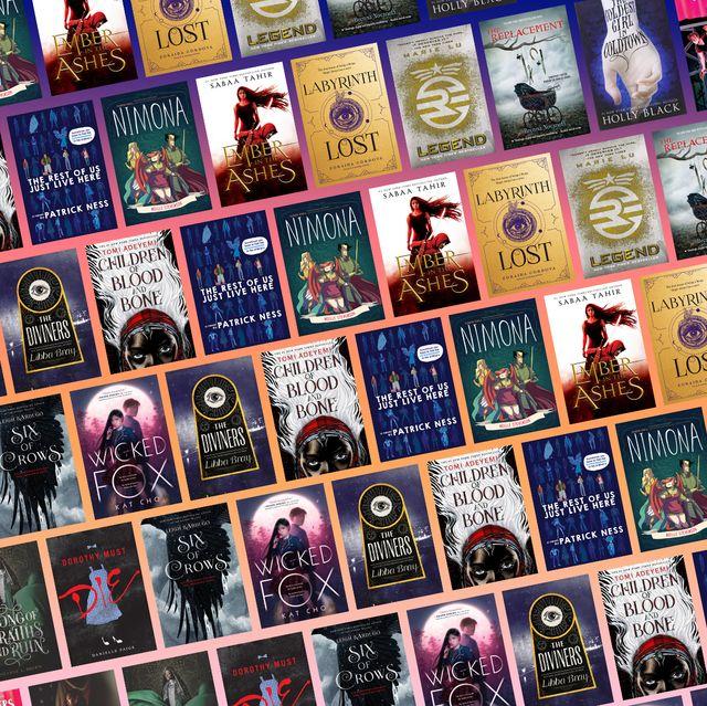 cover of many ya fantasy books