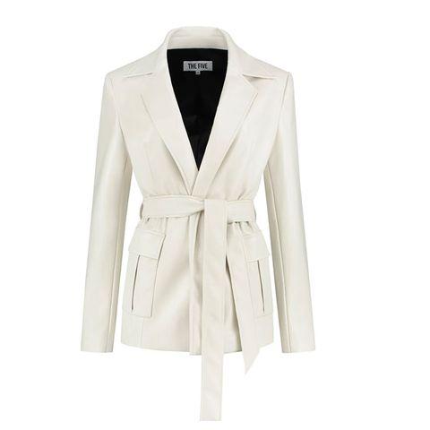 leren witte jas