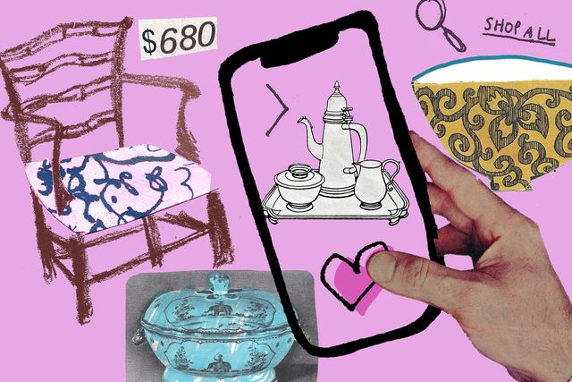 illustration for online antique shop