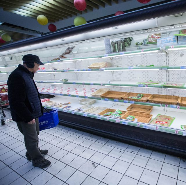 China's Supermarkets Empty Before The Coming Snow