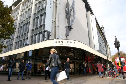 Shoppers are seen outside John Lewis store on London's...