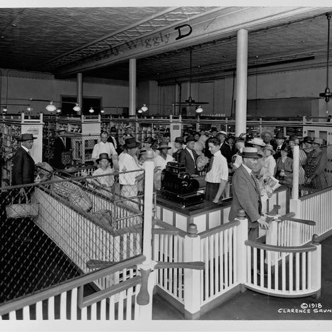vintage photo of grocery store   shopping at piggly wiggly