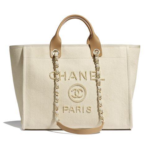 CHANEL珍珠帆布購物包,NT.116,100