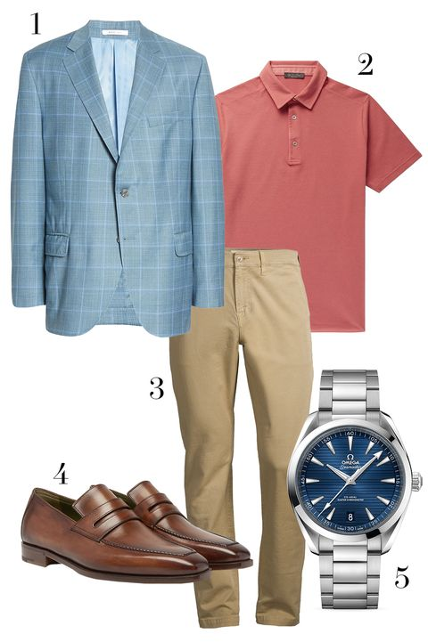 peter millar blazer, loro piana polo, 7 for all mankind pants, omega  watch, berluti loafers