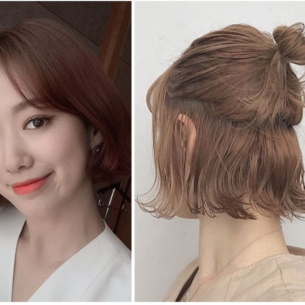 Hair, Face, Hairstyle, Chin, Head, Hair coloring, Eyebrow, Forehead, Brown hair, Bob cut,