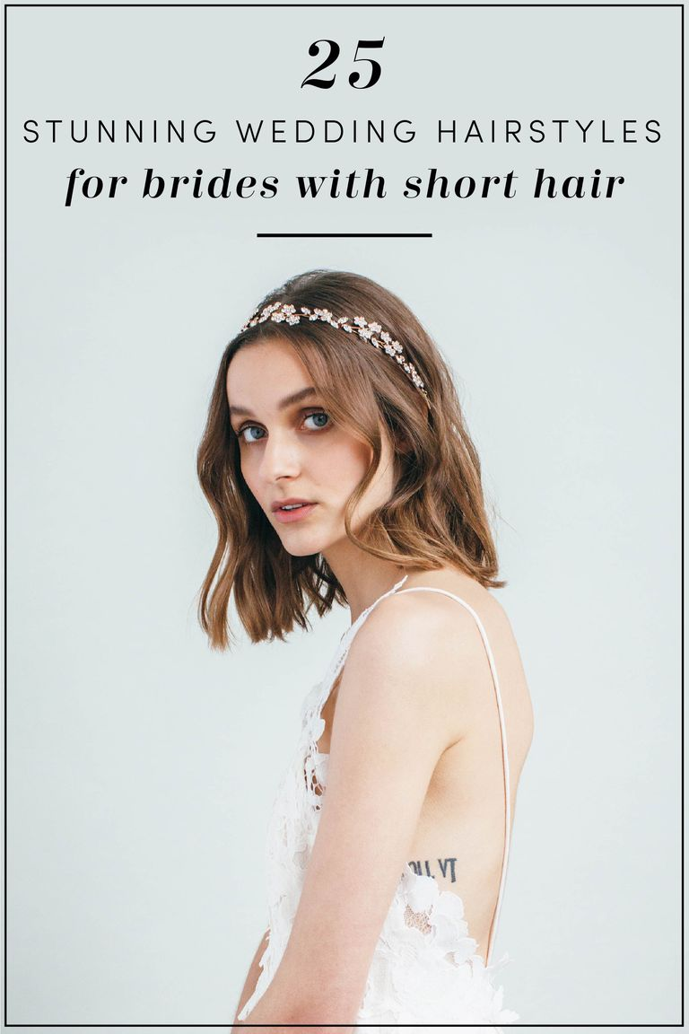 25 Short Wedding Hairstyles - Bridal Updos, Braids, and Hairstyles