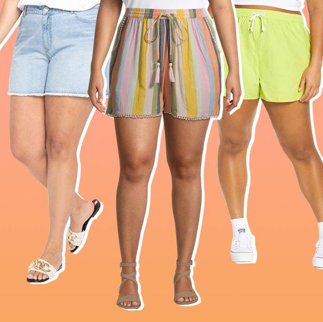 plus size summer shorts