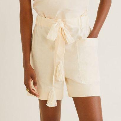 shorts blancos sostenibles de mango outlet