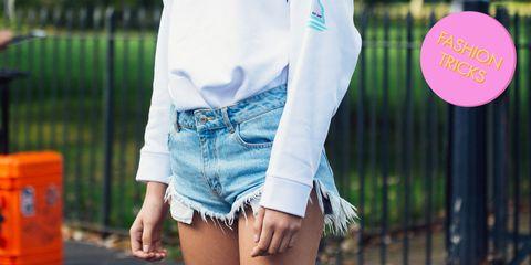 come fare gli shorts dai jeans lunghi