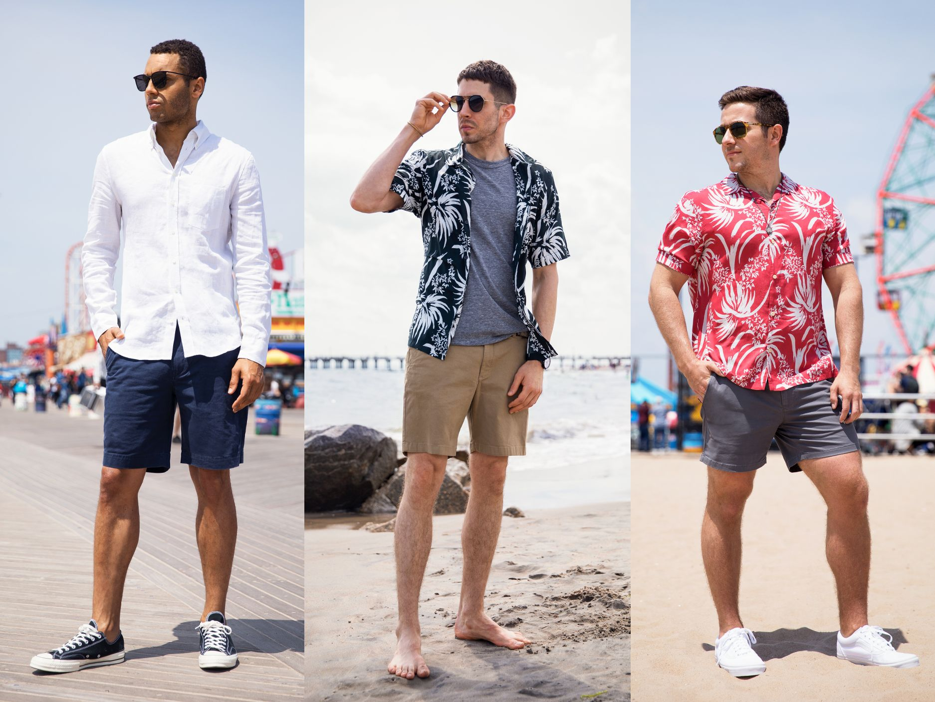 How Your Shorts Should Fit: What the 3 Key Inseams Look Like on 3 Real Guys