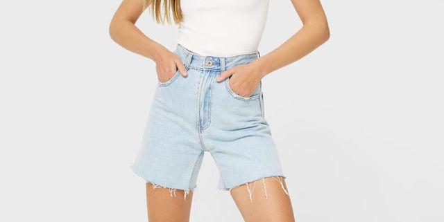 long shorts vaqueros de stradivarius