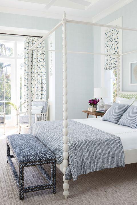 Bedroom, Furniture, Bed, Room, White, Bed frame, Interior design, Property, Mattress, Curtain,