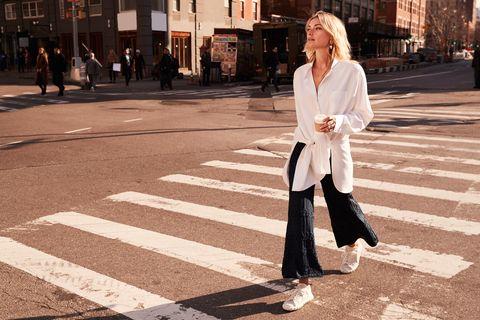 White, Street fashion, Photograph, Clothing, Road, Fashion, Snapshot, Street, Infrastructure, Black-and-white,