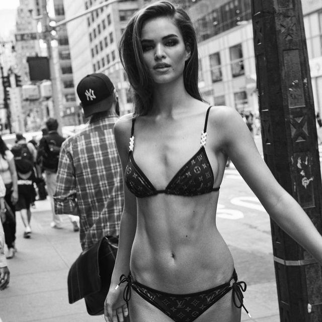 Lingerie, Photograph, Clothing, Beauty, Undergarment, Model, Fashion model, Fashion, Black-and-white, Leg,