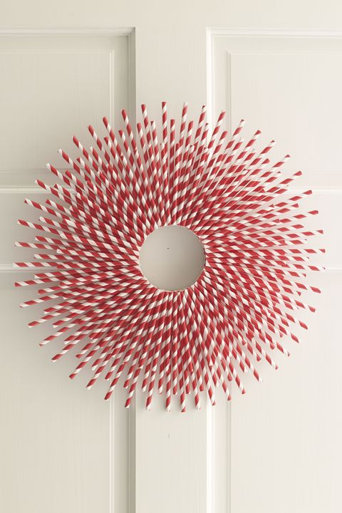 4th of july paper straw wreath