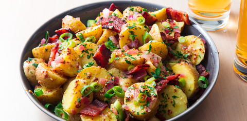 Best hot german potato salad recipe how to make warm german style german potato salad forumfinder Choice Image