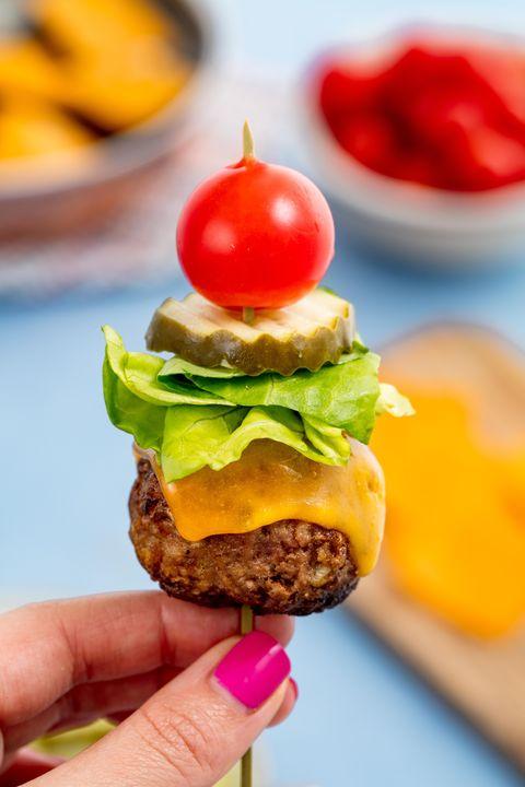 Bunless Burger Bites