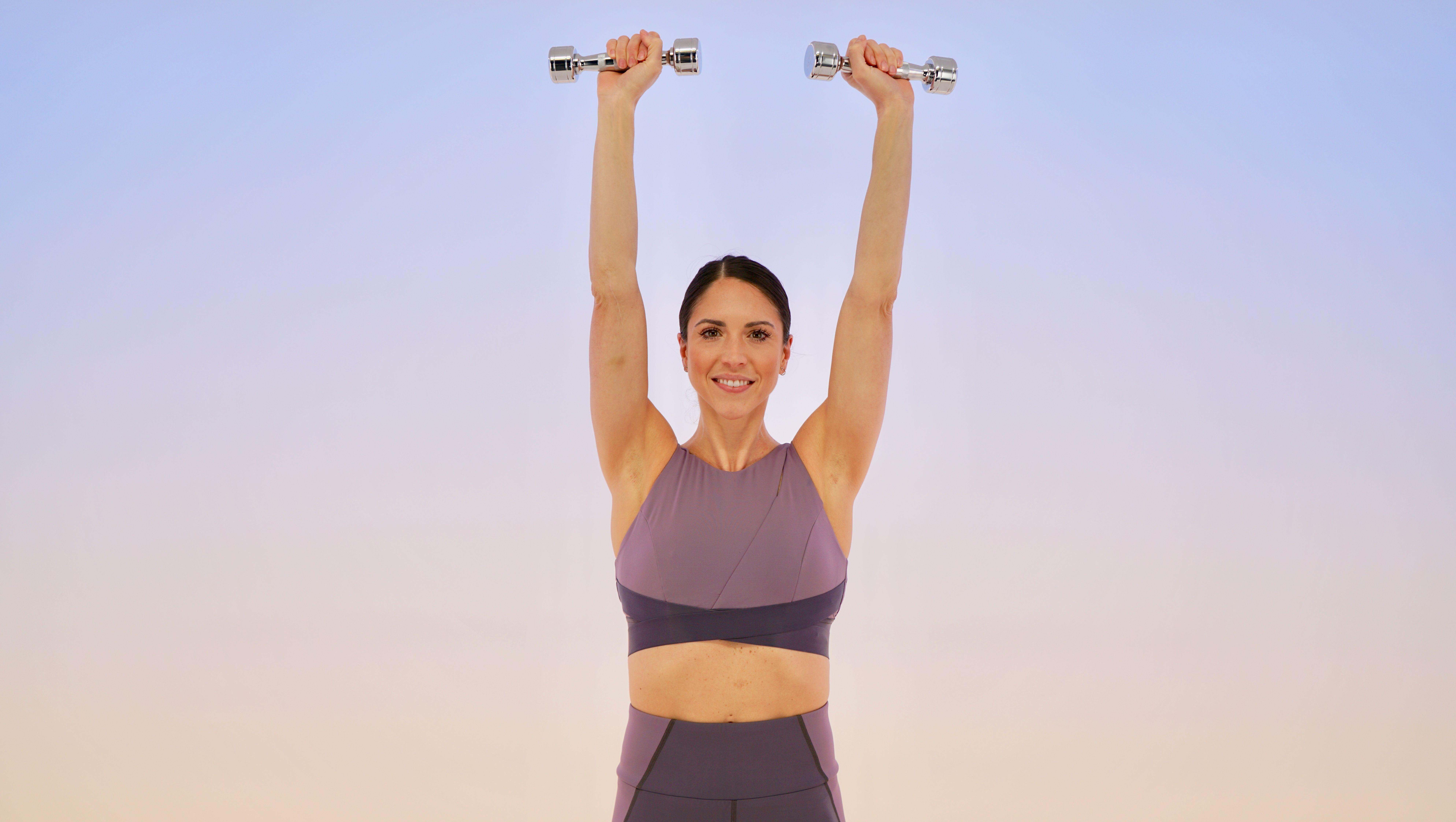 upper-body workout: overhead shoulder press