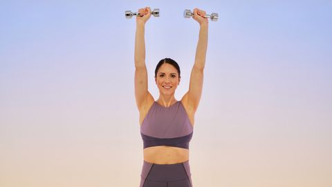 upper-body workout: overhead shoulder press