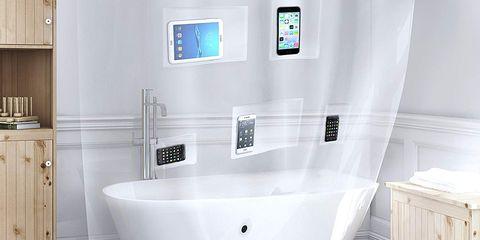 Bathroom, Plumbing fixture, Bathtub, Room, Tile, Tap, Interior design, Toilet, Bathroom accessory, Floor,