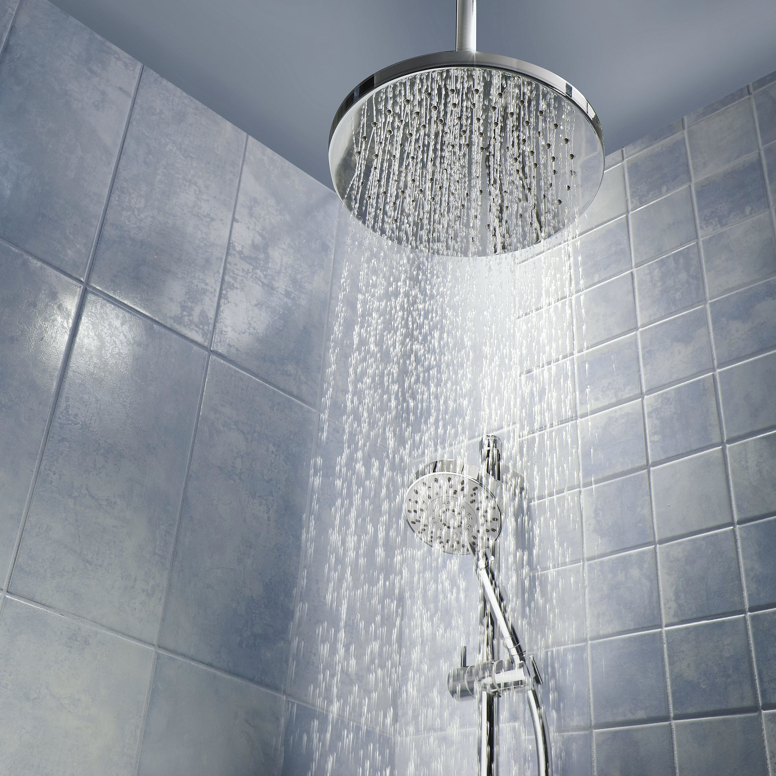 Shower head with running water