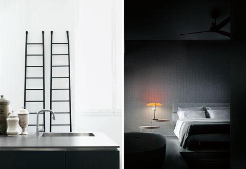 Room, Interior design, Architecture, Bed, Property, Floor, Wall, Ceiling, Plumbing fixture, Tap,