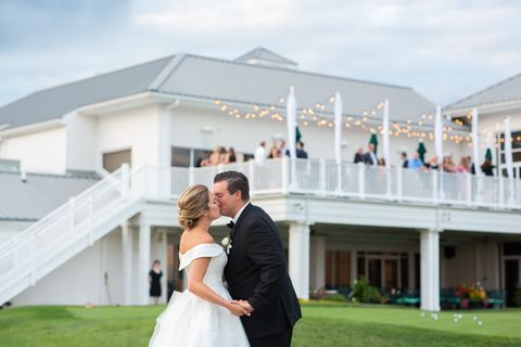Photograph, Bride, Ceremony, Wedding dress, Wedding, Yellow, Pink, Event, Mansion, Estate,