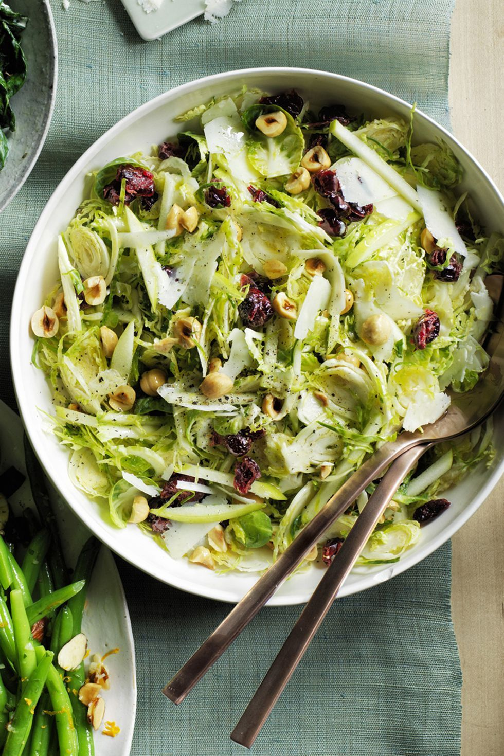 Healthy Thanksgiving Recipes Shredded Brussels Sprout Salad