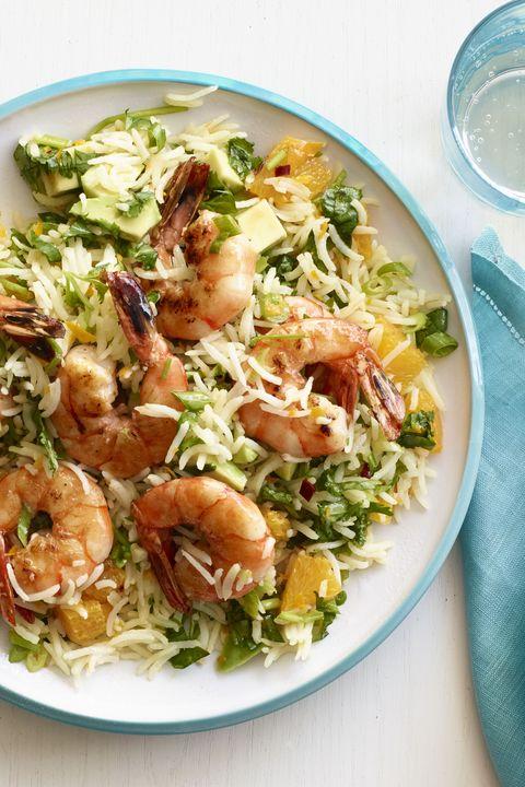 zesty shrimp with chimichurri rice