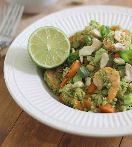 Broccoli Fried Rice with Shrimp