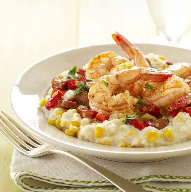 shrimp and fresh corn grits